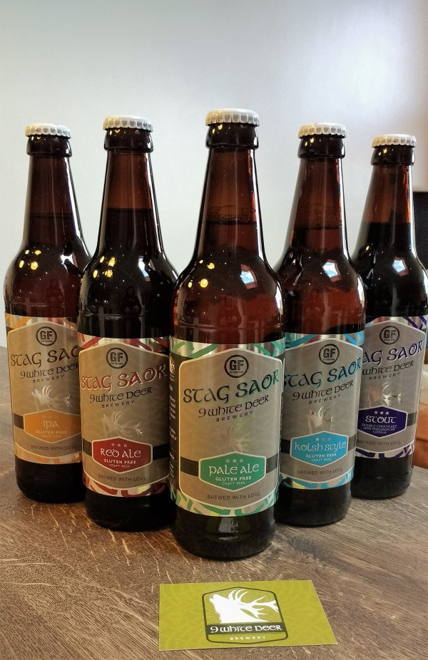 Gluten Free Beer range from 9 White Deer Brewery